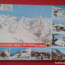 Postales: POSTAL POST CARD LLEIDA LÉRIDA BAQUEIRA BERET ALT ARÁN VALLE D´ARAN SEÑALIZACIÓN DE PISTAS PIRINEU... Lote 194749636