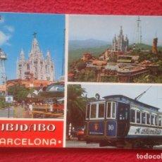 Postales: POSTAL POST CARD BARCELONA TIBIDABO PARQUE DE ATRACCIONES THEME PARK VER FOTO Y DESCRIPCIÓN. CAIXA... Lote 194750907