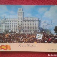 Postales: POSTAL POST CARD JA SOM OLIMPICS BARCELONA 1992 PLAÇA DE CATALUNYA 1986 CIUTAT OLIMPICA OLIMPIADAS... Lote 194771313