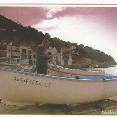 Postales: Nº 1 - COSTA BRAVA (GIRONA).- AMANECER EL LA PLAYA DE TAMARIU (LA VANGUARDIA). Lote 194780435