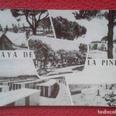 Postales: POSTAL POST CARD PLAYA DE LA PINEDA PLANO DE EMPLAZAMIENTO BARCELONA VILADECANS GAVÁ....SOBERANAS.... Lote 194787280