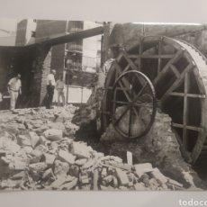 Postales: FOTOGRAFÍA MANRESA RUEDA HIDRÁULICA DE CAL ANDREU CARRETERA DE CARDONA CON DOS DE MAYO AÑO 1987. Lote 194858716