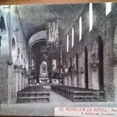 Postales: TARJETA POSTAL L.ROISIN,FOT. N•28 MONESTIR DE RIPOLL. NAVE CENTRAL. Lote 194861222