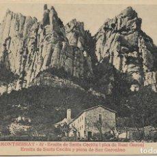 Postales: MONTSERRAT, ERMITA DE SANTA CECILIA I PICS DE SANT GERONI - E.M.DE M. 32 - S/C. Lote 194880555