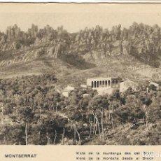 Postales: MONTSERRAT, VISTA DE LA MUNTANYA DES DEL BRUC - HUECOGRABADO MUMBRU - S/C. Lote 194881473