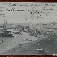 Postales: POSTAL DE TARRAGONA, VISTA GENERAL, ED. HAUSER Y MENET, N. 25, CIRCULADA EN 1907. Lote 194882375