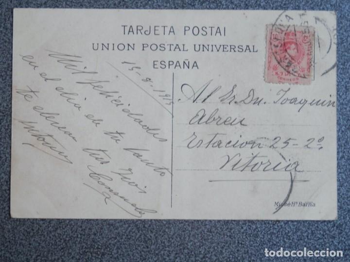 Postales: BARCELONA PUERTO Y ADUANA POSTAL ANTIGUA CIRCULADA EN 1915 - Foto 2 - 194892792