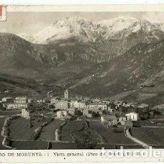 Postales: ANTIGUA POSTAL 1 SAN LORENZO DE MORUNYS VISTA GENERAL PICO DE URDET FOTO M PUJOLS ESCRITA. Lote 194894983