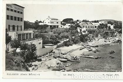 ANTIGUA POSTAL 4 PALAMOS COSTA BRAVA LA FOSCA R GASSO FOT ESCRITA 1959 (Postales - España - Cataluña Moderna (desde 1940))