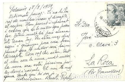 Postales: ANTIGUA POSTAL 4 PALAMOS COSTA BRAVA LA FOSCA R GASSO FOT ESCRITA 1959 - Foto 2 - 194895130