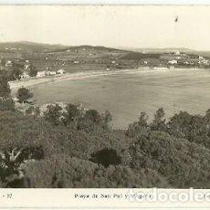 Postales: ANTIGUA POSTAL 27 S'AGARO PLAYA DE SAN POL Y D'AGARO FOTO R GASSO ESCRITA 1947. Lote 194895213