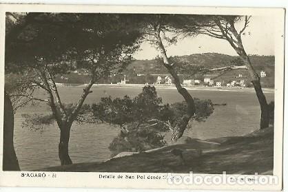 ANTIGUA POSTAL 31 S'AGARO DETALLE DE SAN POL DESDE S'AGARO FOTO R GASSO ESCRITA (Postales - España - Cataluña Moderna (desde 1940))