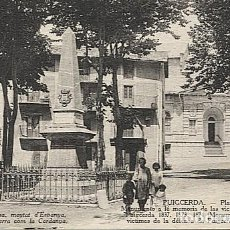 Postales: X123079 CATALUNYA GIRONA GERONA CERDANYA PUIGCERDA PLAZA DE LOS HEROES Y MONUMENTO. Lote 194944301