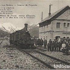Postales: X123085 CATALUNYA GIRONA GERONA CERDANYA PUIGCERDA ESTACION CON TREN. Lote 194944625
