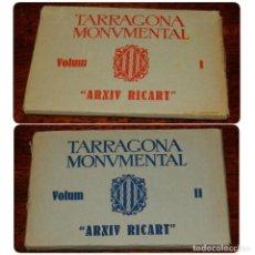 Postales: LOTE DE 2 BLOCS DE 25 FOTO POSTALES DE TARRAGONA. TARRAGONA MONUMENTAL. VOLUM I-II. ARXIU RICART. 50. Lote 194963073