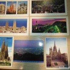 Postales: BARCELONA LOTE 7 POSTALES TRIANGLE VARIOS TAMAÑOS PANORAMICAS SIN CIRCULAR SIN ESCRIBIR. Lote 194964211