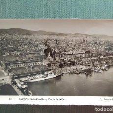 Postales: POSTAL BARCELONA RAMBLAS Y PUERTA DE LA PAZ. Lote 194989431