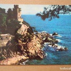 Postales: COSTA BRAVA. LLORET DE MAR. CASTILLO SA CALETA. Nº 581 ESCRITA.. Lote 195019691