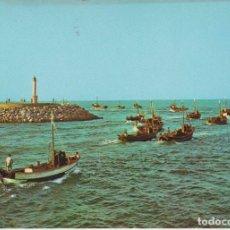 Postales: (502) CAMBRILS. TARRAGONA. BARCAS SALIENDO A LA PESCA . FARO. ... SIN CIRCULAR. Lote 195029436