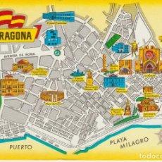Postales: (149) TARRAGONA. MAPA CALLEJERO CASCO ANTIGUO . ... SIN CIRCULAR. Lote 195029635