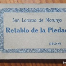 Postales: BLOC POSTAL SAN LORENZO DE MORUNYS !RETABLO DE LA PIEDAD!. 15 TARJETAS. GUILERA-BARCELONA. COMPLETO.. Lote 195039185