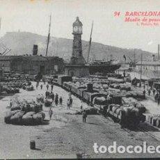 Postales: POSTAL 94 BARCELONA PUERTO MUELLE DE PESCADORES L. ROISIN. Lote 195044196