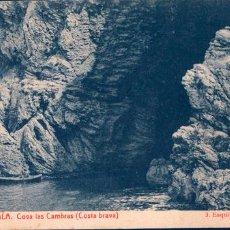 Postales: POSTAL 9 LA ESCALA COVA LAS CAMBRAS COSTA BRAVA, COVA LES CAMBRES. Lote 195045308