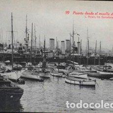 Postales: POSTAL 99 PUERTO DESDE EL MUELLE DE BARCELONA, L. ROISI. Lote 195067138