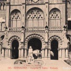 Postales: BARCELONA. HOSPITAL SAN PABLO. ENTRADA. ROISIN. Lote 195069503