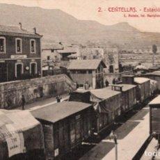 Postales: CENTELLA. 2 ESTACIÓ FERRO-CARRIL. ROISIN. Lote 195072307
