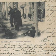 Postales: POSTAL BARCELONA. VENDEDOR DE LOROS. SERIES RAMOS Y COBOS.-I.-5. FOT. DE P.B.U. 1902.. Lote 195114552