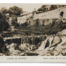 Postales: CALDES DE MONTBUI - SALTS D'AIGUA DEL MOLÍ DE L'ESCLOP - P30001. Lote 195153252