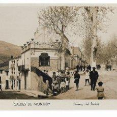 Postales: CALDES DE MONTBUI - PASSEIG DEL REMEI - P30001. Lote 195153273