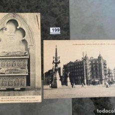 Postales: LOTE DE 2 POSTALES , LA NOGUERA 1907 Y BARCELONA CRUCE . Lote 195167066