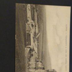 Postales: LLUVIA CAMPANARIO Y VISTA DEL CAMINO NEUTRO. SIN CIRCULAR.. Lote 195182612
