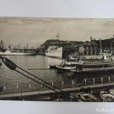 Postales: POSTAL - BARCELONA - DETALLE DEL PUERTO - AÑOS 50. Lote 195210047