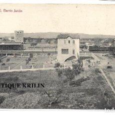 Postales: SALOU Nº 15 BARRIO JARDIN .- FOTO. THOMAS .- ESTACION CARRILET REUS - SALOU . Lote 195238691