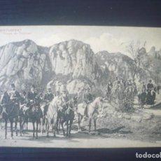 Postales: MONTSERRAT-GRUPO DE TURISTAS Y ESTACIÓN DEL FERROCARRIL. Lote 195255128