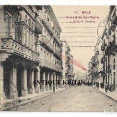 Postales: REUS Nº 19 ARRABAL DE SAN PEDRO .- L. ROISIN / MATASELLADA EN BOMBAY . Lote 195256031