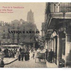 Postales: REUS Nº 56 PLAZA DE LA CONSTITUCION Y CALLE MAYOR .- L. ROISIN / EDICION LA FLECA . Lote 195259213