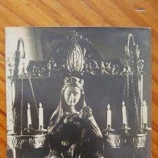 Postales: POSTAL FOTOGRAFICA SANTA MARIA DE ESTANY. ESCULTURA ALABASTRO DE LA VIRGEN. SIN CIRCULAR.. Lote 195301991