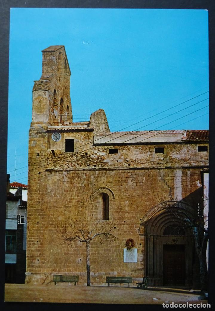 AGULLANA (GIRONA) PLAZA DE LA IGLESIA, ANTIGUA POSTAL SIN CIRCULAR (Postales - España - Cataluña Moderna (desde 1940))