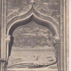 Postales: BARCELONA. CATEDRAL. CAPILLA DE S. CLEMENTE. TUMBA DE DOÑA SANCHA .. ATV 257. Lote 195329323
