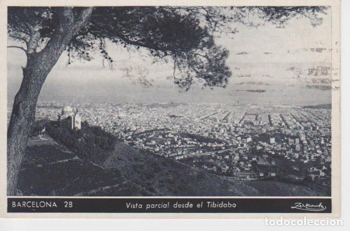BARCELONA. VISTA PARCIAL DESDE EL TIBIDABO (Postales - España - Cataluña Antigua (hasta 1939))