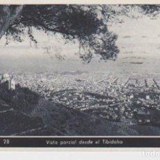 Postales: BARCELONA. VISTA PARCIAL DESDE EL TIBIDABO. Lote 195329801