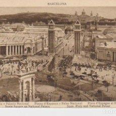 Postales: BARCELONA. PLAZA DE ESPAÑA Y PALACIO NACIONAL. Lote 195329911
