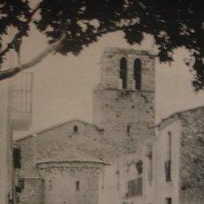 Postales: CALDAS DE MALAVELLA CALLE Y ABSIDE DE LA IGLESIA - PORTAL DEL COL·LECCIONISTA . Lote 195369063