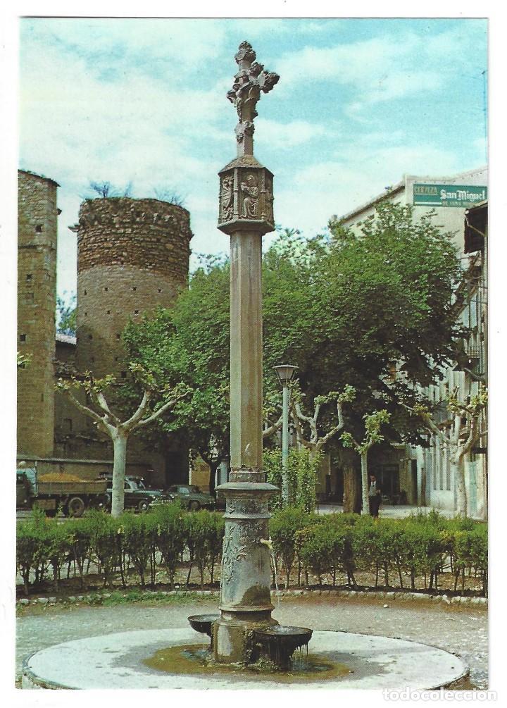 TREMP.- FUENTE DE LA CRUZ. CARRER SAN MIGUEL. LÉRIDA- SIN CIRCULAR (AÑOS 60) (Postales - España - Cataluña Moderna (desde 1940))