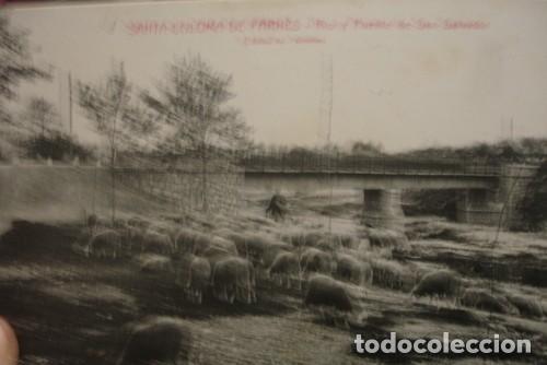 SANTA COLOMA DE FARNÉS - RIO Y PUENTE DE SAN SALVADOR L. ROISIN (Postales - España - Cataluña Antigua (hasta 1939))