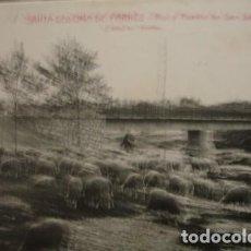 Postales: SANTA COLOMA DE FARNÉS - RIO Y PUENTE DE SAN SALVADOR L. ROISIN . Lote 195369876
